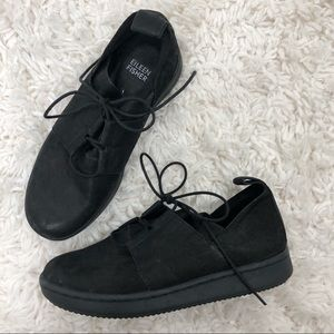 Eileen Fisher Kipling Black Nubuck Leather Sneaker
